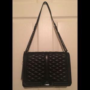 Rebecca Minkoff Jumbo Quilted Love Black Handbag